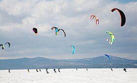 snowkite à Autrans dans le Vercors