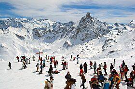 domaine skiable Trois Vallées dans les Alpes
