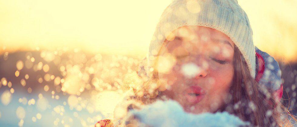 Jouer dans la neige à Méribel