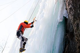 escalade sur glace à Méribel