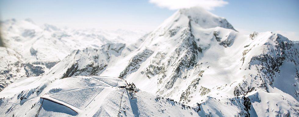 panorama Aiguille rouge au domaine skiable paradiski