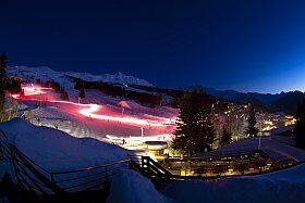 Skier de nuit aux Arcs