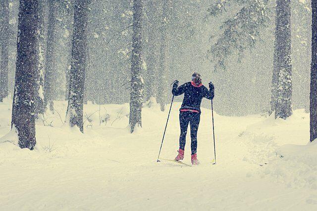 ski de fond à la Plagne Montalbert et Montchavin