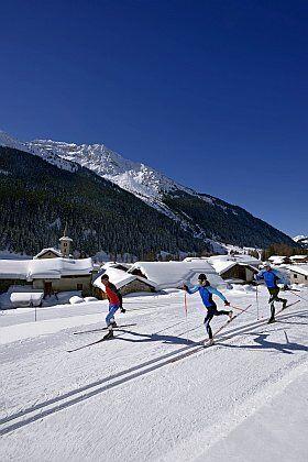 le nordic parc à la Plagne pour ski de fond