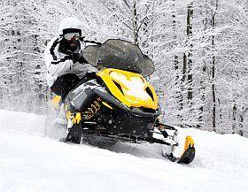 activité insolite à la neige, motoneige à la Plagne