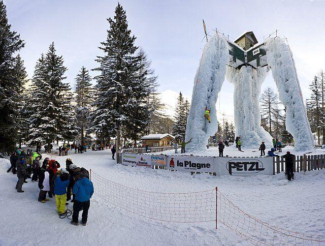 la tour de glace à la Plagne
