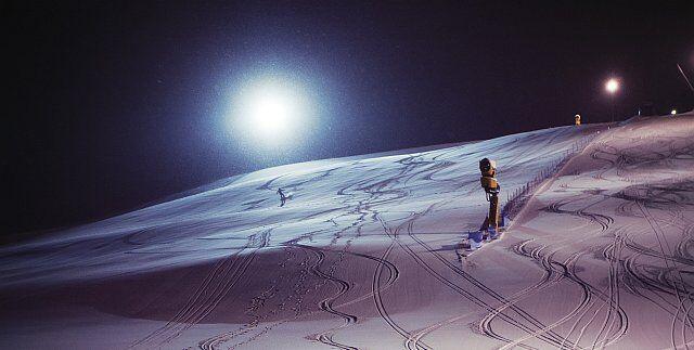 ski de nuit à la Plagne