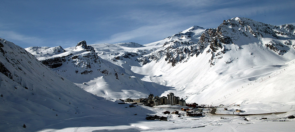 Tignes station des Alpes en hiver