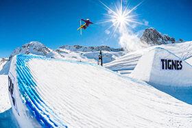 snowpark freestyle à Tignes