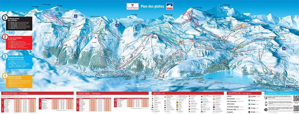 panorama du domaine skiable en vacances à Tignes