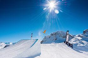figure freestyle au snowpark de Tignes