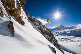descente freeride au coeur des sommets à Tignes
