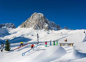 snowpark en action dans le domaine de Tignes