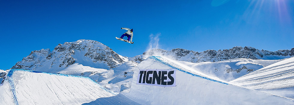 freestyle au snowpark de Tignes