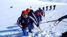 expédition randonnée glaciaire Grande Motte