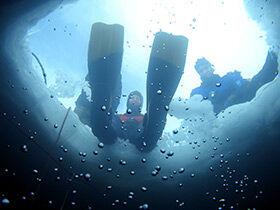plongée sous glace à Tignes