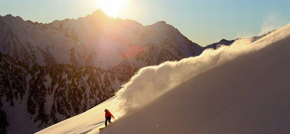 ski freeride au cirque du Lys à Cauterets