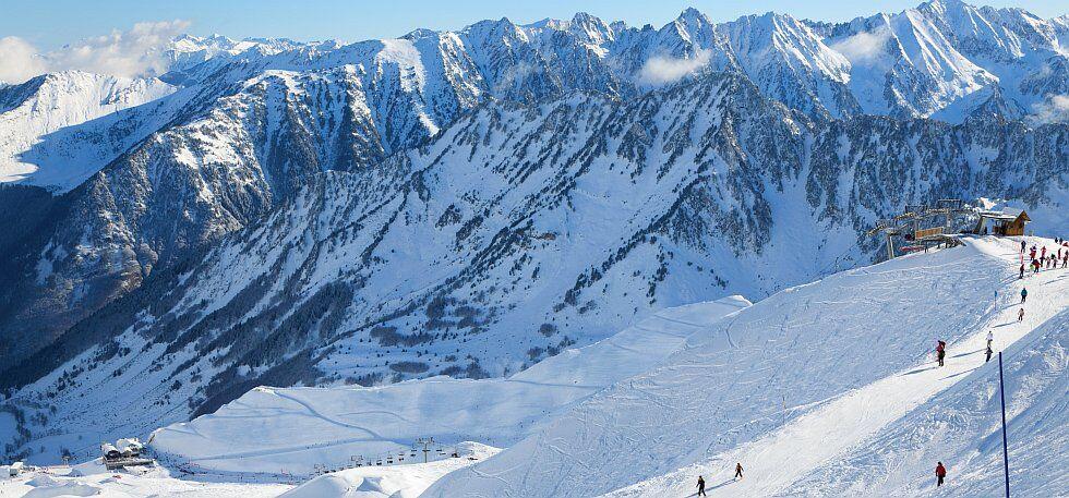 domaine skiable de Cauterets dans les Pyrénées