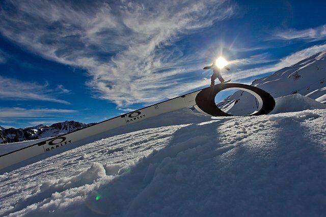 oakley cauterets park, snowboard freestyle dans les Pyrénées
