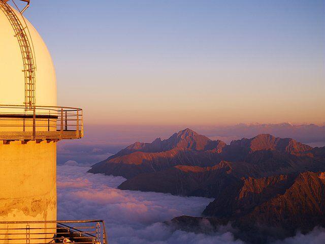 Observatoire astronomique du Pic du Midi dans les Pyrénées