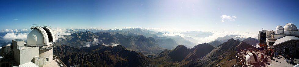 panorama Pic du Midi dans les Pyrénées