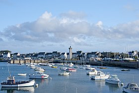Port de Roscoff départ de la Vélodyssée en Bretagne