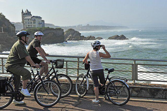 Vélodyssée à Biarritz en vacances