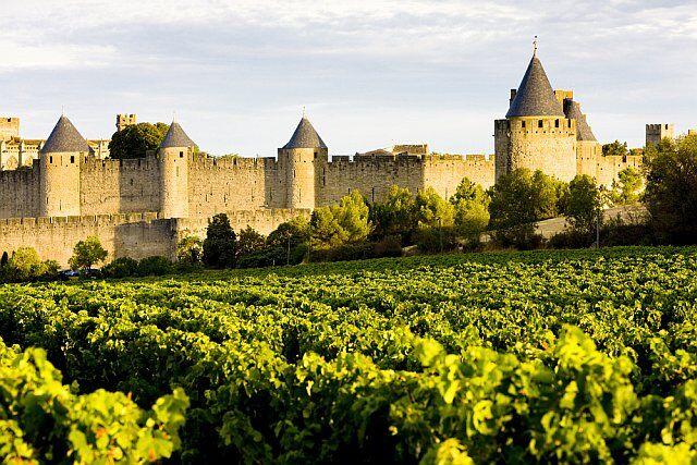 la cité médiévale de Carcassonne en Languedoc Roussillon
