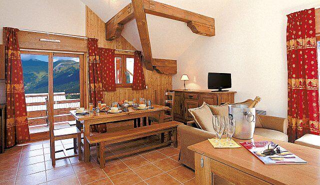 Intérieur d'un appartement à la résidence La Cascade (Vaujany, L'Alpe d'Huez)