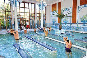 Cours d'aquagym au spa de la résidence d'Argelès-sur-Mer