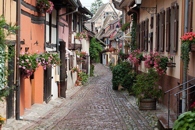 Eguisheim en Alsace, classé plus beau village de France