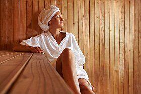 pause sauna dans la station thermale d'Evian