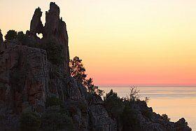 Le rocher des amoureux aux Calanques de Piana
